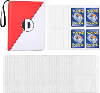 D DACCKIT Carrying Case Binder Compatible with Pokemon Card, Holds Up to 400 Cards - Trading Cards Collectors Album with 5...