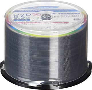 Verbatim バーベイタム 1回記録用 DVD+R DL 8.5GB 50枚 ホワイトプリンタブル 片面2層 2.4-8倍速 DTR85HP50V1FFP [フラストレーションフリーパッケージ]