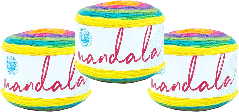 3 Pack quality Direct sale of manufacturer assurance Lion Brand 525-209 Mandala Yarn Gnome