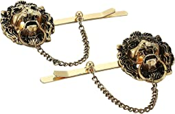 Two-Piece Lion Head Door Knocker Hair Pin