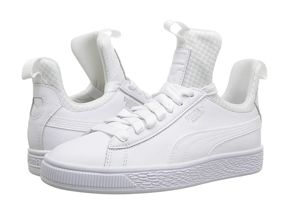 Puma Kids Basket Fierce EP (Big Kid) (Puma White/Puma White) Kids Shoes