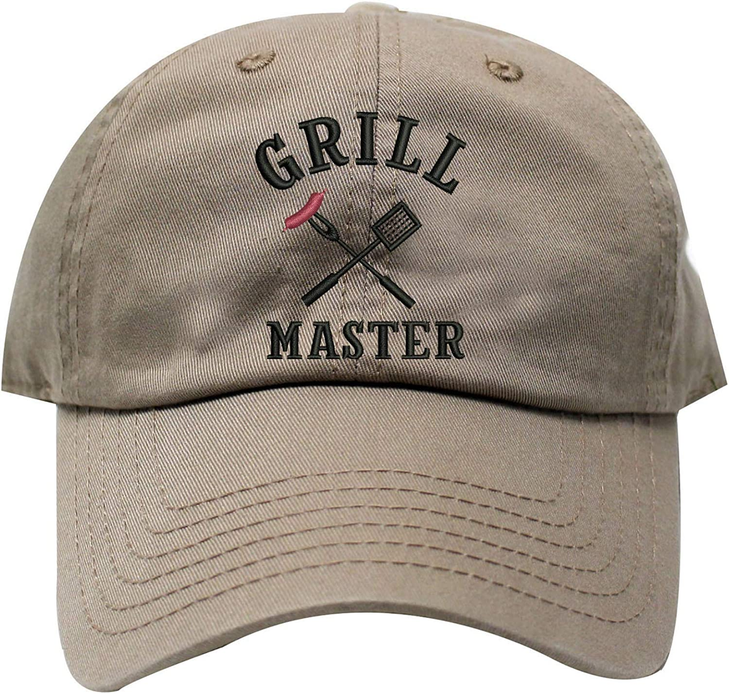 INK STITCH Grill Master USA Cotton Baseball Caps - 21 Colors