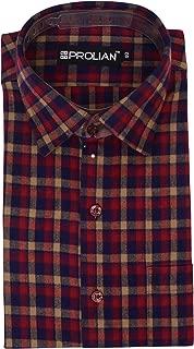 PROLIAN Men's Checkered Woolen Cotswool Long Sleeve Shirt CTWL13