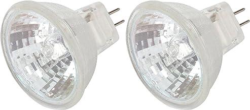 [2 Pack] Simba Lighting 10 Watt 12 Volt MR11 Halogen Spotlight Bulbs 2-Pin 110lm 30° Beam Angle for Accent Track Light and...
