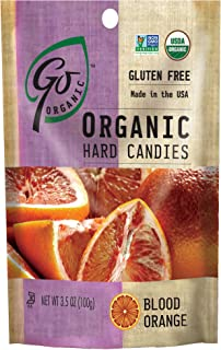 GoOrganic Organic Hard Candies, Blood Orange, 3.5 Ounce Bag (Pack of 6)