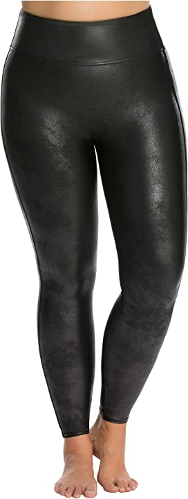 7cf4835dd3726a Spanx Plus Size Faux Leather Pebbled Leggings at Zappos.com