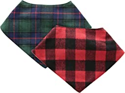 Buffalo Check Handkerchief Bib Two-Piece Set