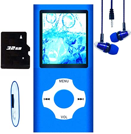 schlankes Design Display digitales LCD-Display 4,6 cm MP3-Player mit 32 GB Speicherkarte FM-Radio 1,8 Zoll Hotechs MP3-Player//MP4-Player