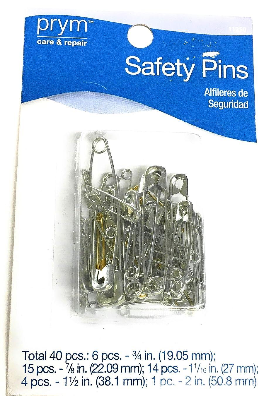 prym -40 Safety Pins -Assorted Nickel/Brass
