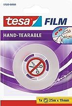 tesa film Afscheurbaar, Transparant, 25m x 19mm