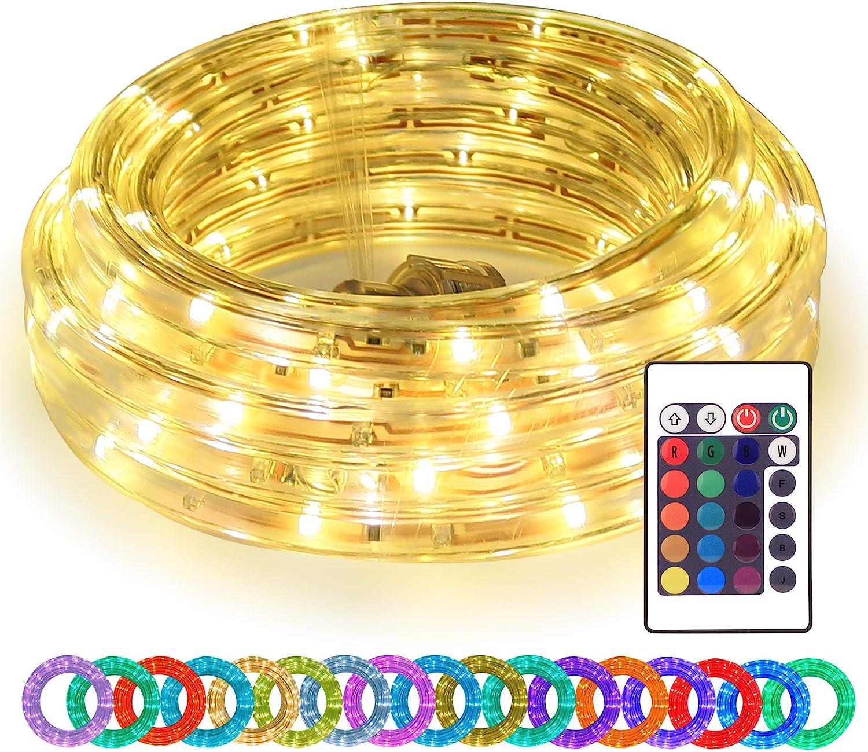 16ft LED Rope Lights RGBWW Changing 安心の実績 高価 買取 強化中 with Color Rem Strip オリジナル