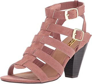 Qupid Women's CHAMBER-22 Heeled Sandal