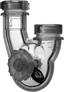 PF WaterWorks PT5021PermaFLOWNever Clog Universal Transparent ABS P-Trap for Kitchen and Bath/Lavatory - Universal Fit 1-1/2-Inch or 1-1/4-Inch - includes reducing gasketsTransparent1Piece