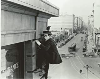 Harold Lloyd holding on to side of building 8x10 Photo