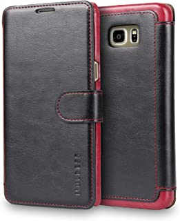 MULBESS Galaxy S6 Edge Plus Case, [Layered Dandy][Vintage Series][Black] - [Ultra Slim][Wallet Case] - Premium Leather Flip Cover with Credit Card Slot for Samsung Galaxy S6 Edge+