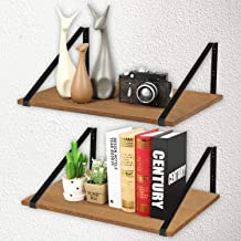 AEE LIFV Floating Shelves Wall Mounted Rustic Wood Wall Shelves with Large Storage(L 17