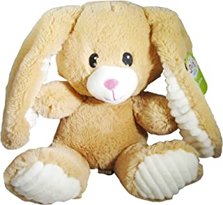 Spark Create Image 12 inch Soft Plush Bunny Stuffed Animal with Soothing Noise Makers (Tan)