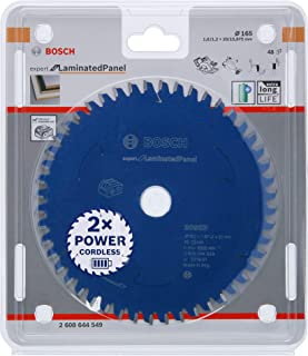 Hoja de sierra circular para madera aglomerada Bosch 2608644552 Expert for Laminated Panel 216 x 30 x 2,1 mm, 66 dientes, incluye bater/ía