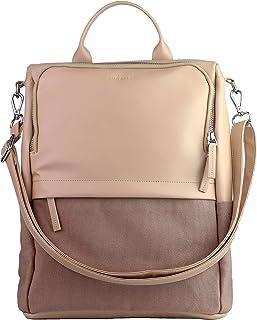 Kuratist 2 in 1 Damen Rucksack Umhängetasche - FROO, Cleverere Aufteilung mit Diebstahlschutz aus Canvas & Mikrofaser für ...