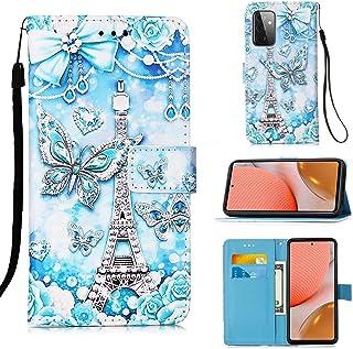 TTNAO Hoesje Samsung Galaxy A72(5G) PU Leder Kaarthouder Portemonnee Flip Folio Magnetische Sluiting Schokbestendige Besch...