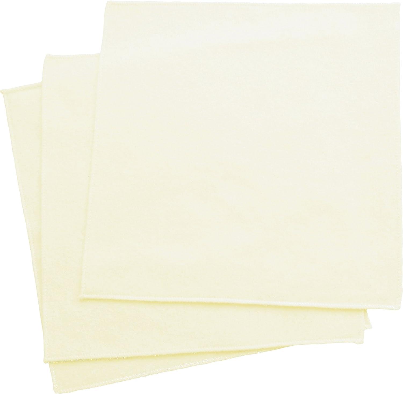 Organic Handkerchiefs Co, Flannel Hankies, Mens, Unbleached, 14 inch Pack of 3