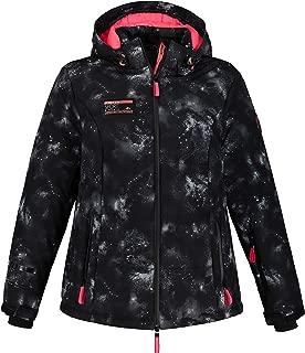Ulla Popken Women's Plus Size Galaxy Print Triple Function Ski Jacket 725339