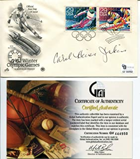 Carol Heiss Olympic Gold Silver Medal Figure Skater Signed Autograph FDC COA - Unsigned Products