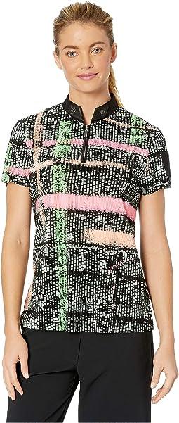 Crunchy Mad Plaid Print Short Sleeve Top