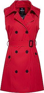 Women's Sleeveless Trench Coat Waterproof Long Vest...