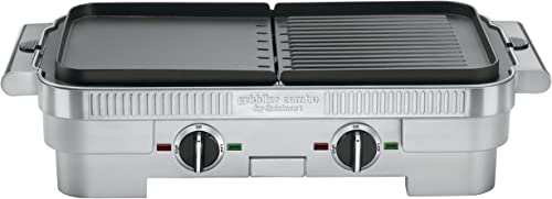 popular Cuisinart 2021 GR-55 Griddler wholesale Stainless Steel Nonstick Grill/Griddle Combo sale