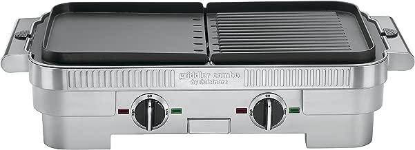 Cuisinart GR-55 Griddler Stainless Steel Nonstick Grill/Griddle Combo