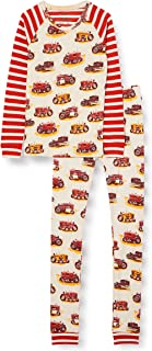 Hatley Boy's Organic Cotton Raglan Long Sleeve Printed Pyjama Set Pajama Set