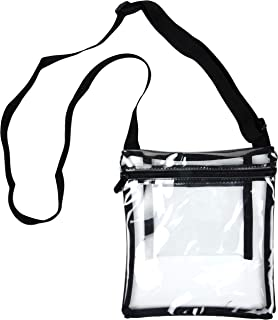 cdd3553150 Youngever Deluxe Clear Cross-Body Purse, NFL and PGA Stadium Approved Clear  Vinyl Bag