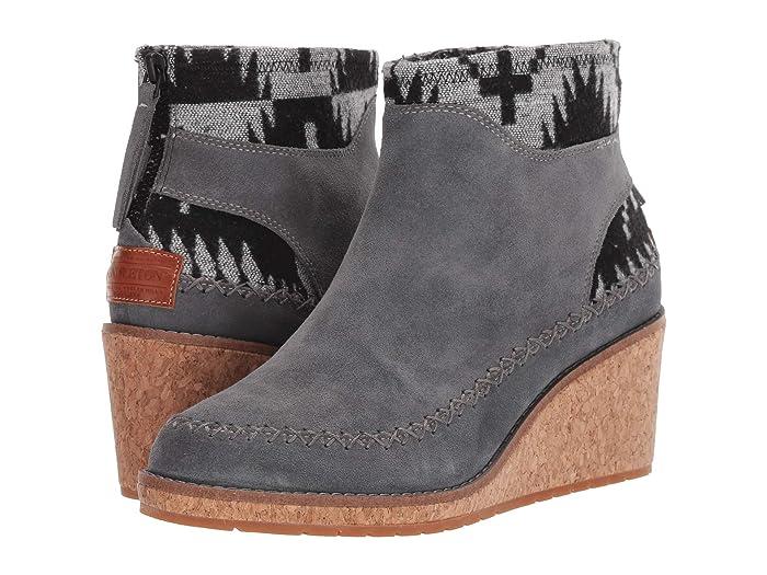 Arago Wedge  Shoes (Steel Gray) Women's Boots