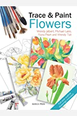 Trace & Paint Flowers Paperback