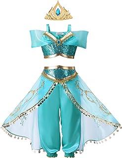 Pettigirl Niñas Teal Princess disfrazarse con Corona Peine