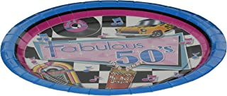 Beistle 58035 Fabulous 50's Plates, 9-Inch