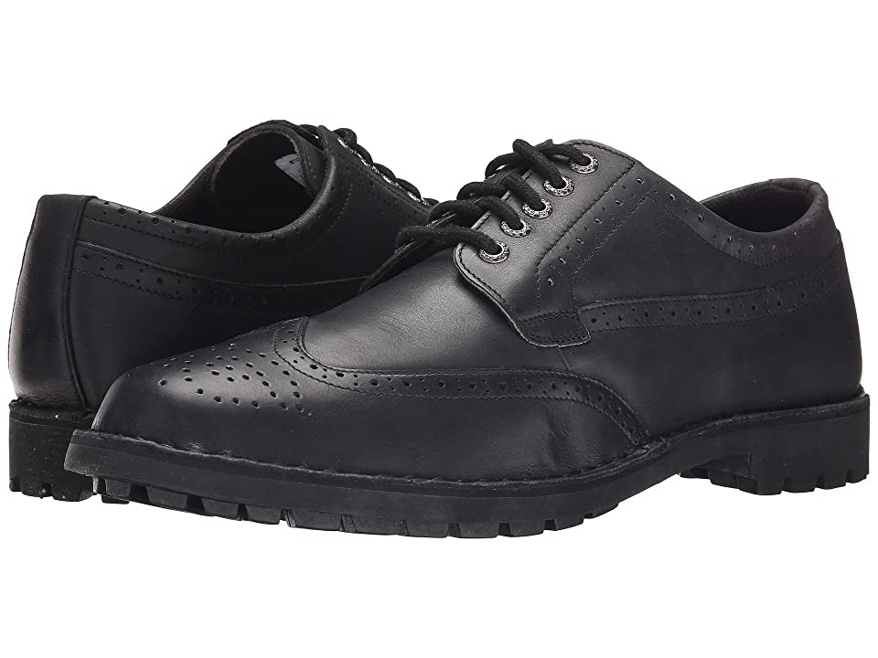 Sebago Metcalf Wing Tip (Black Leather) Men
