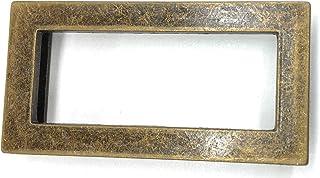 "Rectangle Antique Brass Belt Buckle for Women Antique Gold 3"" x 1'-1/2'' Inch Pull tru BUC. Belt Size 1''"