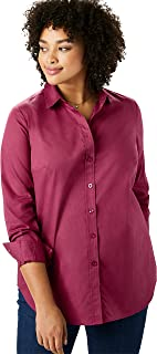 Woman Within Women's Plus Size Perfect Button Down Shirt