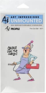 Art Impressions People Cling Rubber Stamp, 7 by 4-Inch, Fire Out
