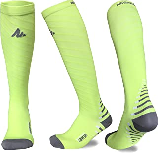 NEWMARK Compression Socks for Men & Women, Best Graduated for Runners, Nurse, Plantar Fasciitis, Hiking, Athletic