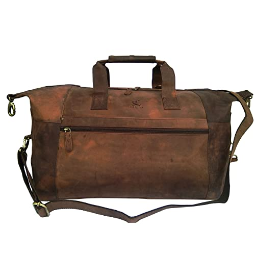 19992a9dd1a0 VINTAGE COUTURE Buffalo Leather Duffel Bag Travel Weekend Tote Shoulder Bag