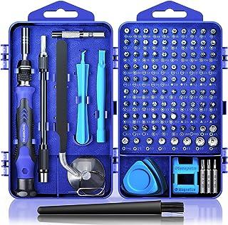 کیت تعمیر کامپیوتر ، کیت پیچ گوشتی لپ تاپ مغناطیسی 122 در 1 ، مجموعه پیچ گوشتی دقیق ، درایور پیچ کوچک ضربه ای همراه با قاب مخصوص کامپیوتر ، لپ تاپ ، رایانه شخصی ، برای iPhone ، iPad ، Ps4 DIY ابزار دستی - آبی