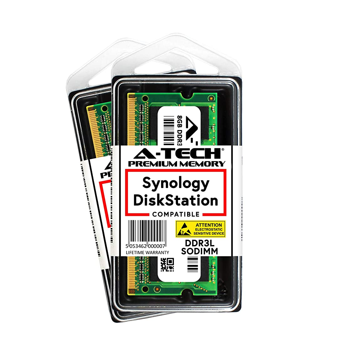 ローラーレパートリー考古学者A-Tech 16GB キット (2 x 8GB) Synology DiskStation DS1517+ DS1817+ NAS サーバー用 - DDR3/DDR3L 1600Mhz PC3L-12800 1.35v SODIMM メモリー RAM (Synology RAM1600DDR3L-8GBx2に相当)