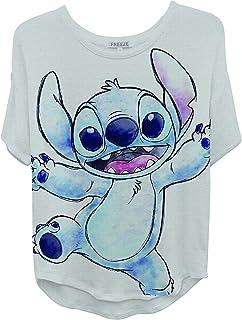 Disney Ladies Lilo and Stitch Shirt - Ladies Classic Lilo and Stitch Fashion Tee Lilo and Stitch Short Sleeve Tee