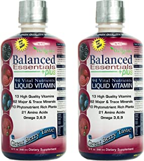 Wellgenix Balanced Essentials Liquid Vitamin for High Absorption - Nutritional Multivitamin Supplement - Boosts Immune Sys...