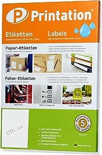 Etiquetas autoadhesivas 210 x 297 mm RESISTENTE a la INTEMPERIE transparente en hojas DIN A4-1 etiqueta por lado - 10 etiquetas de película de poliéster autoadhesivas imprimibles con impresora láser