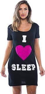 قميص النوم للنساء بعبارة Just Love Sleep Dress for Women Sleeping Sleep Sleep Sleep