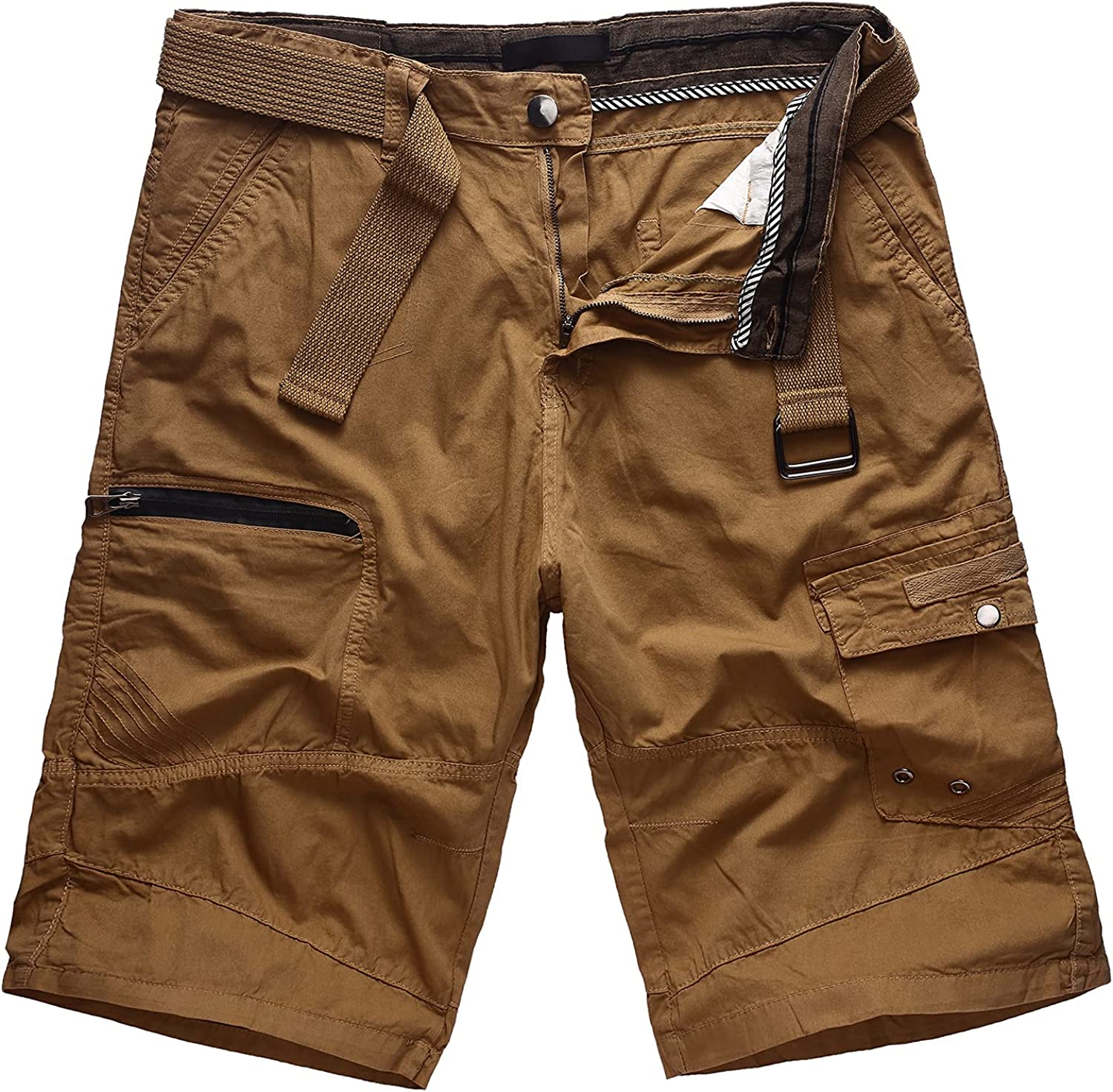 WearLink Men's Casual Cargo Shorts Relaxed Fit Multi Pockets Summer Work Tactical Shorts